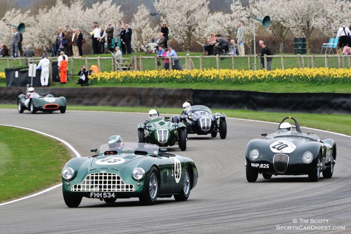 1952 Aston Martin DB3 and 1952 Jaguar C-Type
