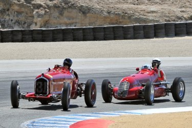 1930 Alfa Romeo Tipo B P3 and 1939 Maserati 4CL