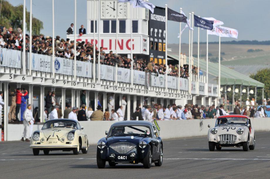 Porsche 356 Speedster, Austin-Healey 100 Coupe and Triumph TR3