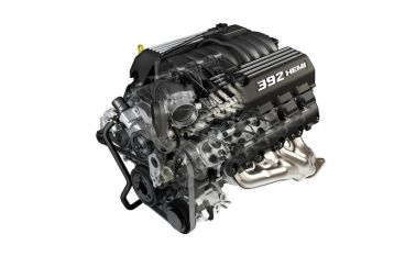 6.4-liter HEMI V-8 engine cutaway for Dodge Challenger SRT8 392