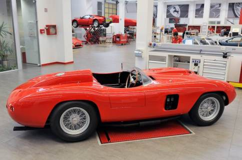 1956 Ferrari 290 MM at Ferrari Classiche (photo: Ferrari SpA)