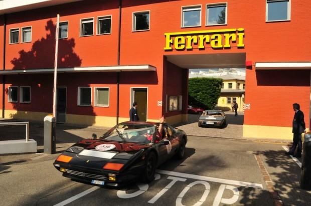 Ferrari 512 BBi of Sergio Fodriga and Dario Bonassi - Ferrari factory in Maranello