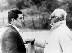 Franco Gozzi with Enzo Ferrari