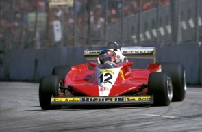 Gilles Villeneuve in the Ferrari 312