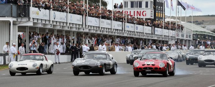 Start of the RAC Tourist Trophy at Goodwood Revival 2012