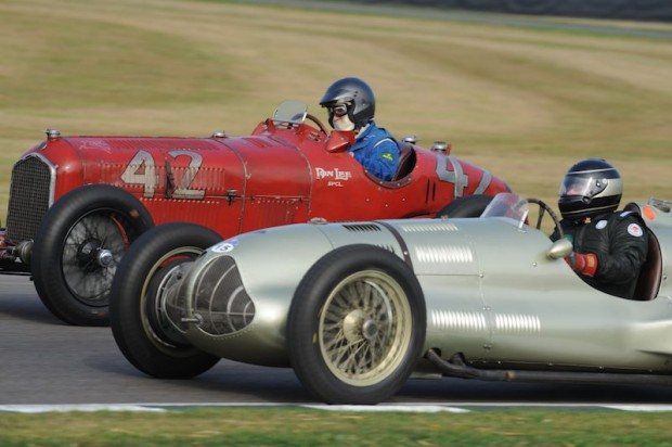 Duncan Ricketts - ERA E-Type GP1 (silver) and Hugh Taylor - Alfa Romeo Tipo B
