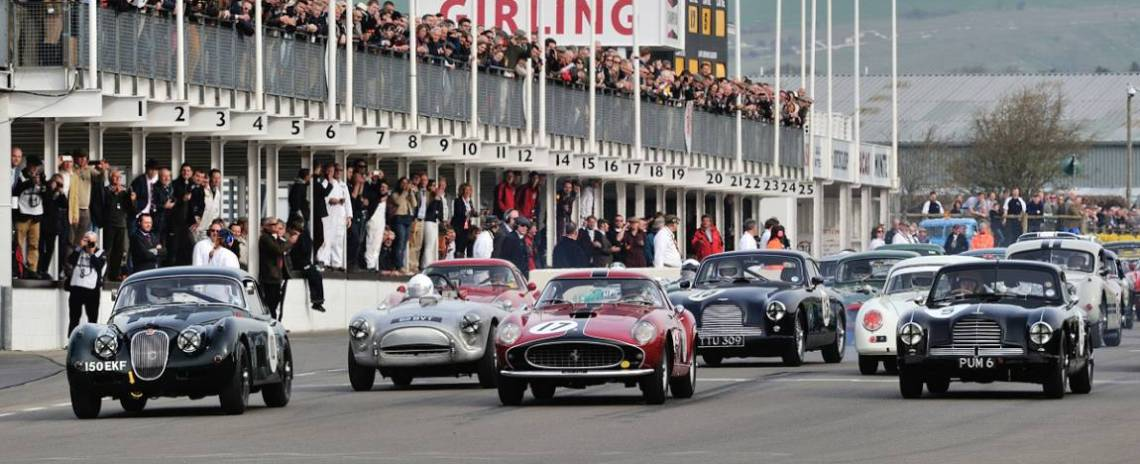 Start of the Tony Gaze Trophy at 2014 Goodwood Members Meeting