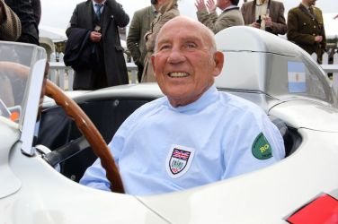 Stirling Moss in the Mercedes-Benz 300 SLR '658' at the Goodwood Revival 2011