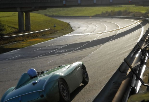 Healey Endurance ran on the top of five lanes around Millbrook