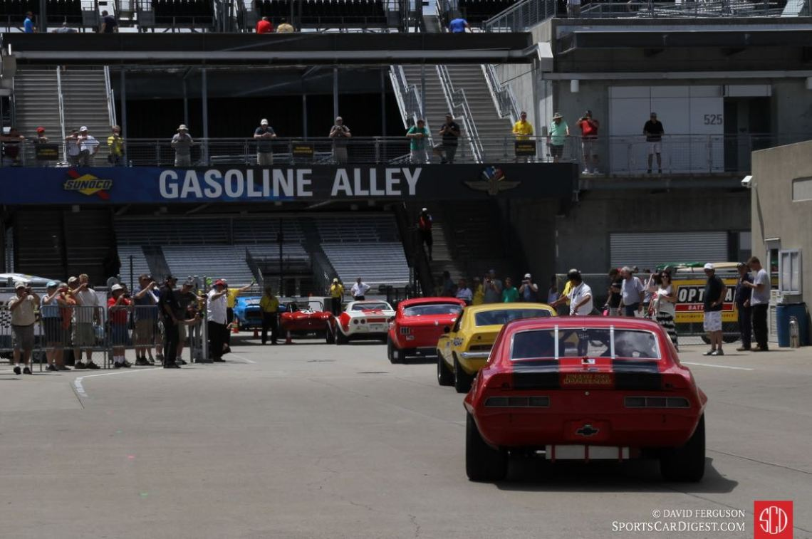 Going from Gasoline Alley to the track.
