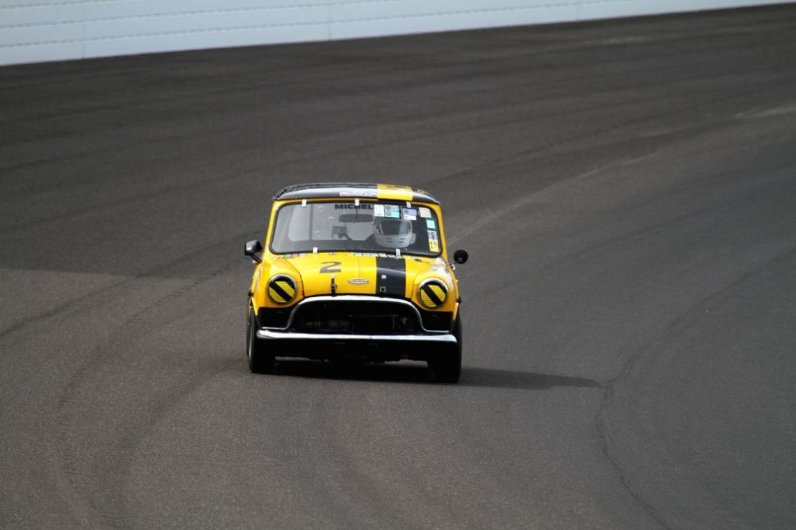 A mini racing at Indy. Ever think you'd see that?