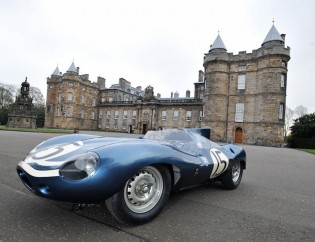 Jaguar D-Type 'Long Nose' Ecurie Ecosse racer, which finished second at Le Mans in 1957, just behind the winning Ecurie car.