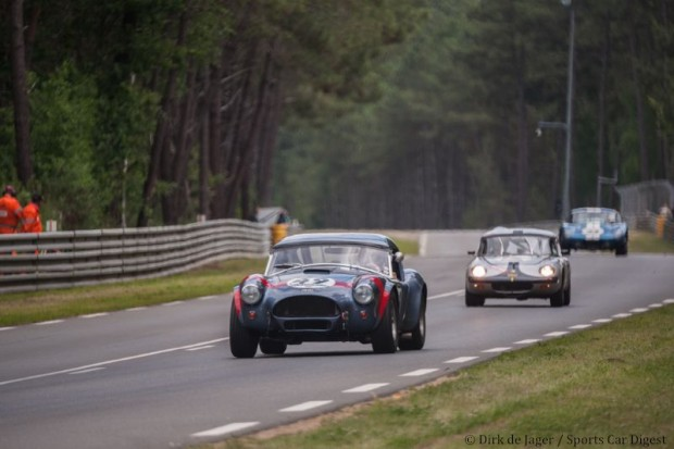 AC Cobra followed by Lotus Elan and Shelby Daytona Cobra Coupe
