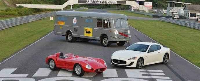 Lawrence Auriana Maserati Collection included 1956 Maserati Tipo 300S, 2014 Maserati GranTurismo and 1952 Fiat 642 Maserati Race Car Transporter