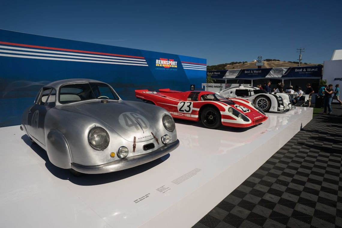 Three of the Legends of Le Mans that were featured on the Rennsport Reunion V event poster