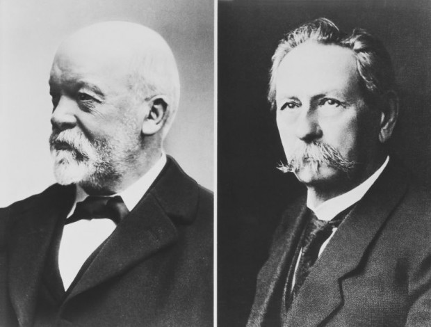 Gottlieb Daimler (left) and Carl Benz (right)