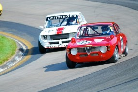1968 Alfa Romeo GTV and 1969 Datsun 510 at Watkins Glen