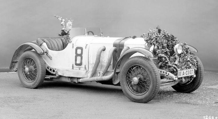 Rudolf Caracciola's Mercedes-Benz SSKL at the German Grand Prix at the Nürburgring on 19 July 1931.
