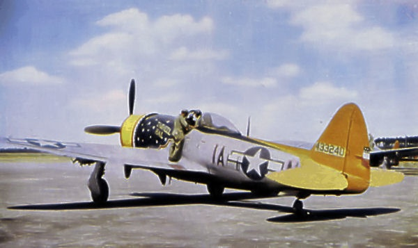 P-47 Thunderbolt parked on tarmac