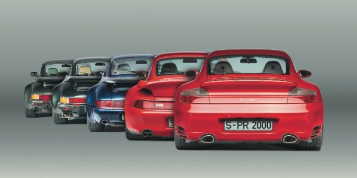 Five generations of the 911 Turbo: 1975-2000