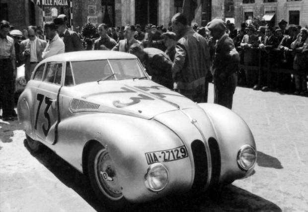 BMW 328 Mille Miglia Kamm Racing Saloon at the 1st Italian Mille Miglia Grand Prix in Brescia