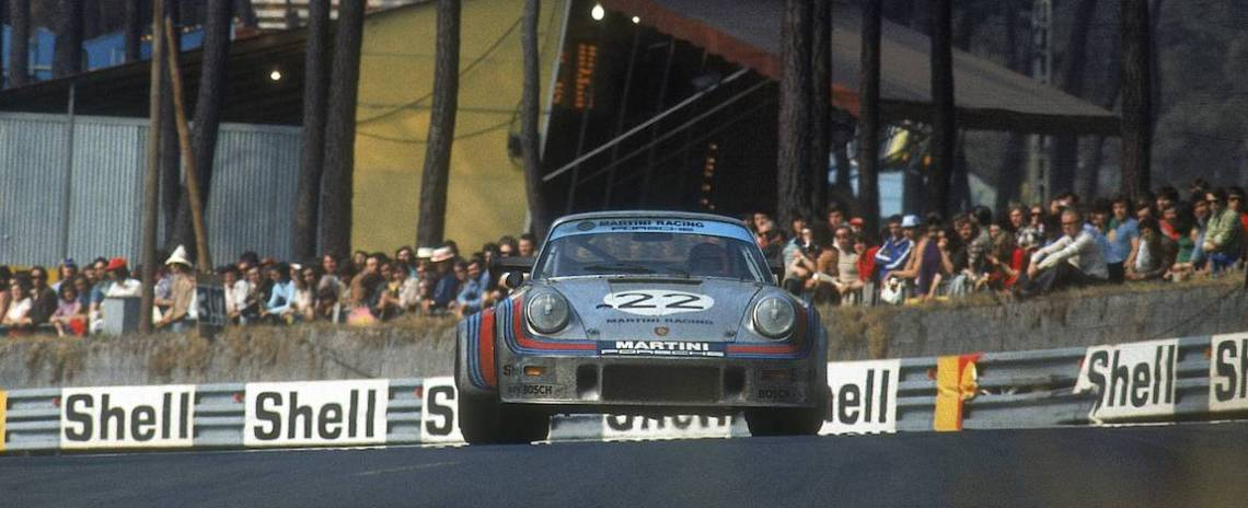 Herbert Muller and Gijs van Lennep finished 2nd overall in a Porsche 911 Carrera RSR Turbo 2.1 at the 1974 Le Mans 24 Hours