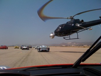 Talented helicopter pilot gets close to the action