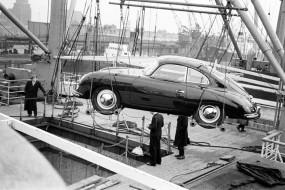 Delivering Porsche 356 Coupe in America