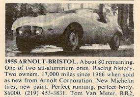 Arnolt-Bristol For Sale