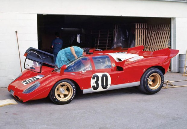 Manfredini – Moretti Ferrari 512S that raced at Daytona in 1970.