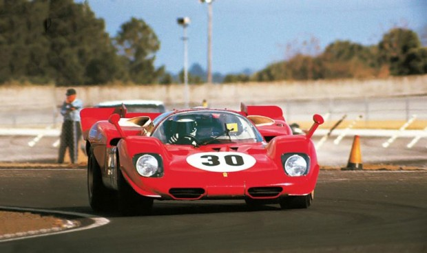Manfredini – Moretti Ferrari 512S that raced at Daytona in 1970.
