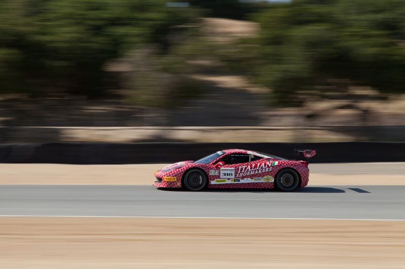 Gregory Romanelli Races up towards turn 6 in the #318 Ferrari 458 EVO