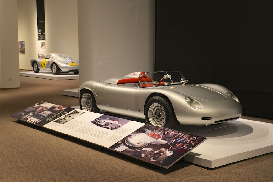 1960 Porsche Type 718 RS60, Bowman Motors - This is one of twelve to fourteen customer RS60s built. In the hands of its first owner, Bill Wuesthoff, it placed in the top three in the under-1500 cc class in seventeen races and won its class twelve times in four years.