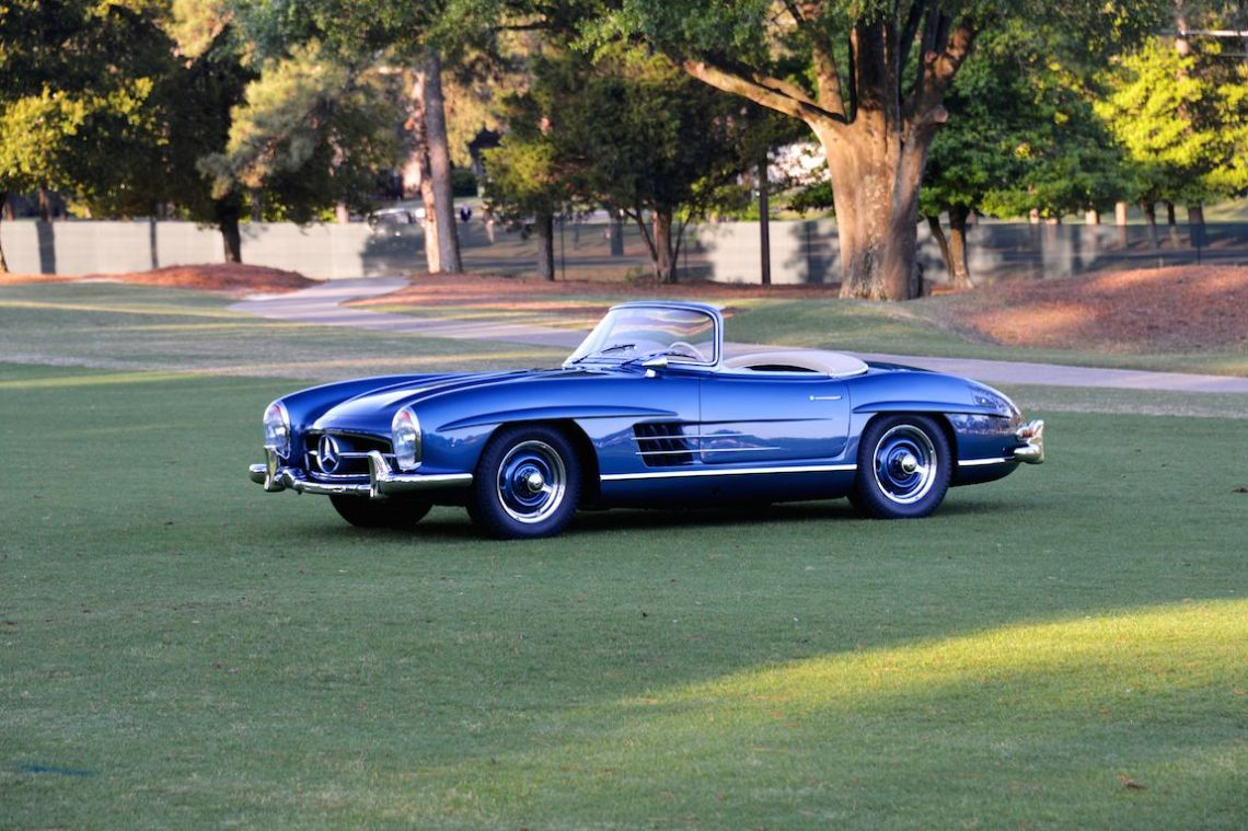 Mercedes-Benz 300SL Roadster greeted spectators at the Pinehurst Concours