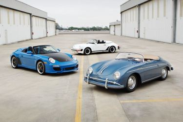2011 997 Speedster, 1989 Porsche 911 Speedster and 1957 Porsche 356 A Speedster (photo by Brian Henniker)