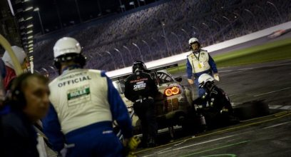 SpeedSource Mazda RX-8 #69 makes a pit stop