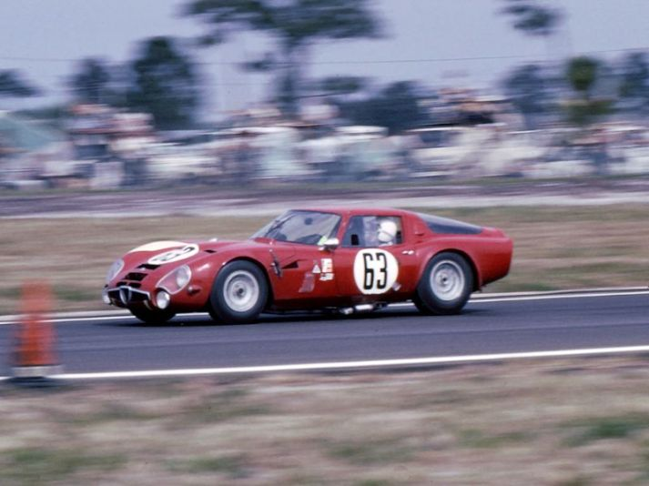 Alfa Romeo Giulia TZ2 finished 14th overall and 1st in class at Sebring in 1966 (Bill Stowe photo)