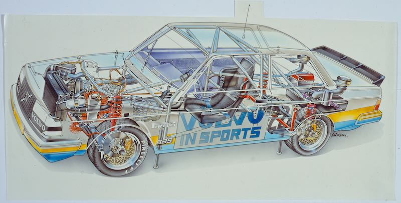 Volvo 240 Turbo illustration