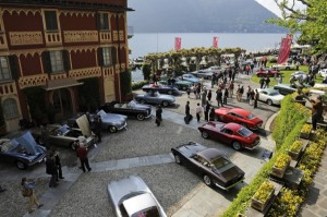 View from above the 2009 Concorso d'Eleganza Villa d'Este