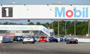 The start of the 2009 HSR Sebring Endurance Challenge vintage car race held at Sebring International Raceway