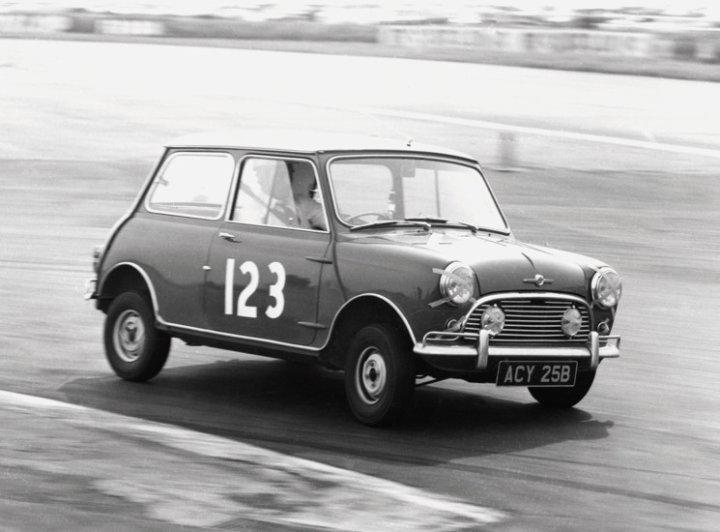 Mini Cooper racing in 1965