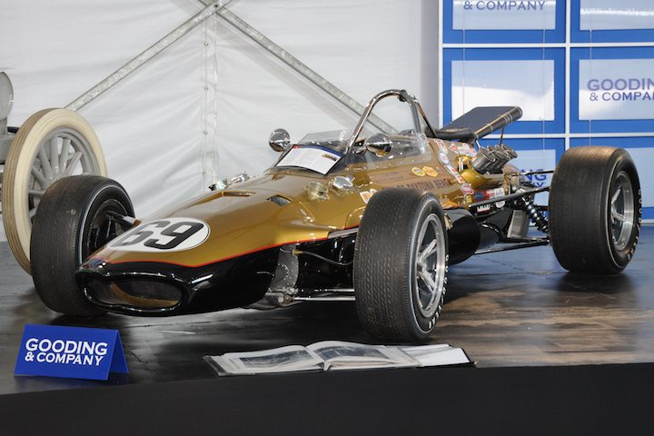 1967 Gurney Eagle Mk III Indy Car – Sold for $220,000 versus pre-sale estimate of $350,000 - $450,000. Only six 1967 Gurney Eagles exist; this was tuned by Smokey Yunick; Dennis Hulme piloted to 4th place finish at 1967 Indianapolis 500; sold without reserve.