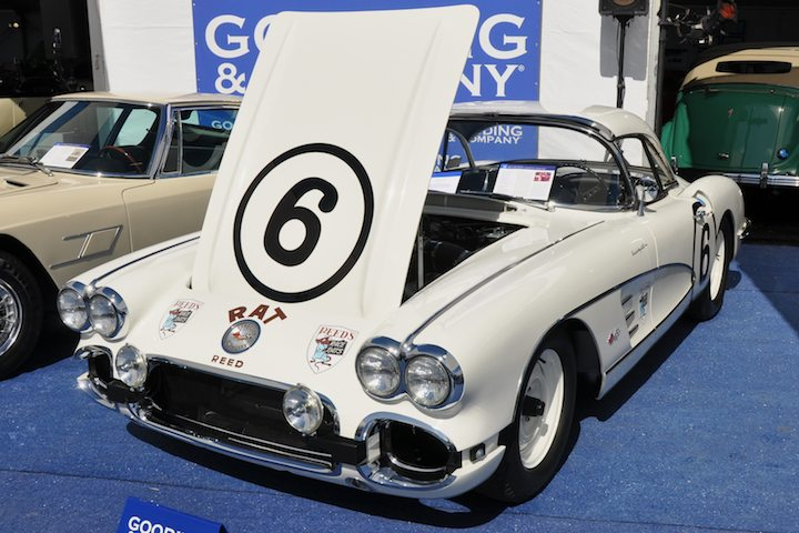 1960 Chevrolet Corvette Race Rat – Did not sell versus pre-sale estimate of $700,000 - $825,000. Class Winner and 16th overall at the 1960 Sebring 12 Hours driven by Bill Fritts and Chuck Hall for RRR Motors; Rare RPO 687, 276 And 1625 Optioned Big-Tank Version; 2009 NCRS American Heritage Award Recipient.