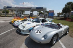 Porsche Sebring Group Shot Features 718 RS 60, RS Spyder, 935 and 962 models