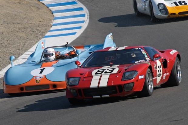 Archie Urciuoli 1969 Ford GT40 leads Brian Redman's 1971 Porsche 908/3