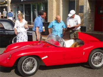 The author's 1951 Bandini Crosley Devin with Sir Stirling Moss