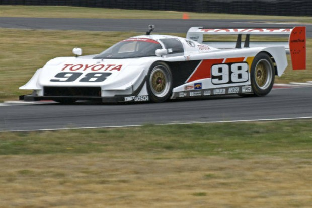 Class winner Tom Molly accelerates out of Turn 12 in his Eagle GTP Mk 3