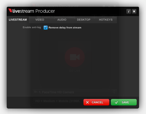 anti lag in livestream