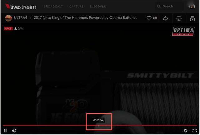 using the dvr livestream