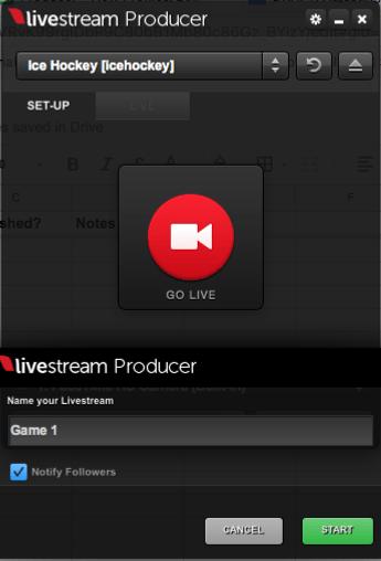 go live with livestream